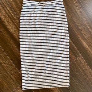 Lovers + Friends Striped Midi Skirt